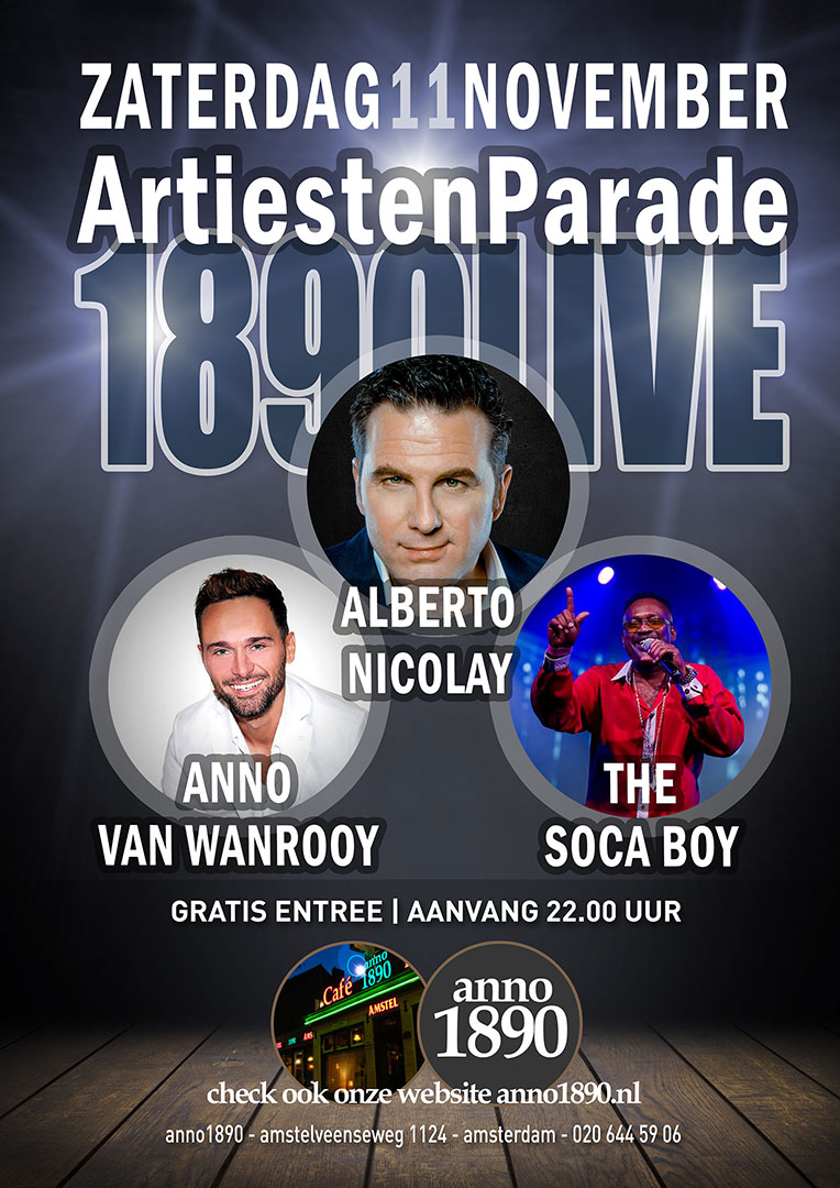 11 november 2017 Artiesten Parade