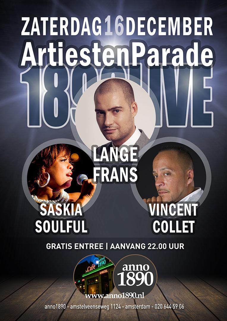 16 december 2017 Artiesten Parade